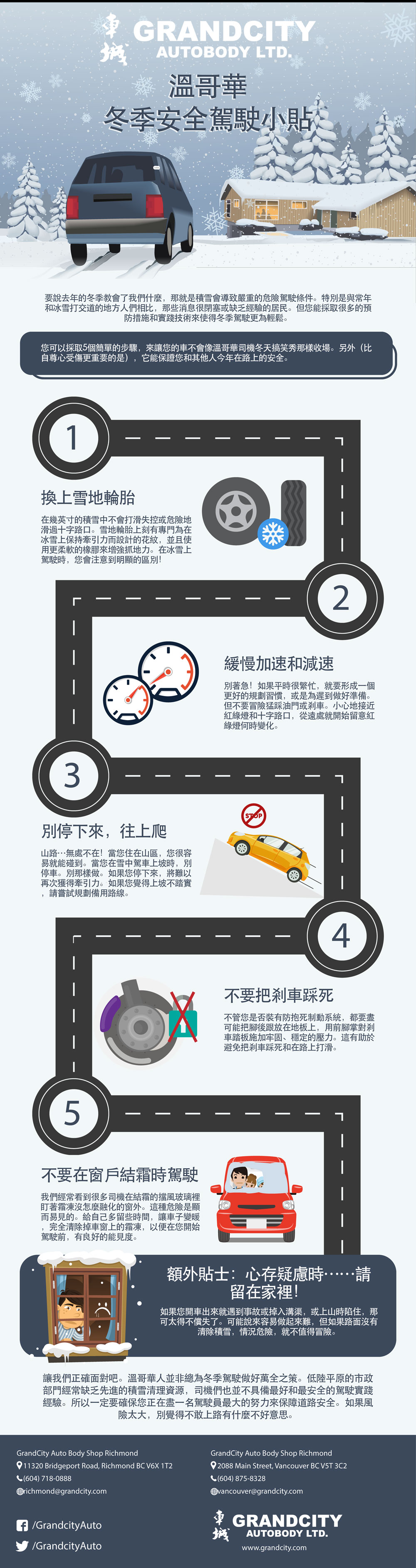 Chinese Traditional Winter Driving Tips From A Vancouver Auto Body Shop