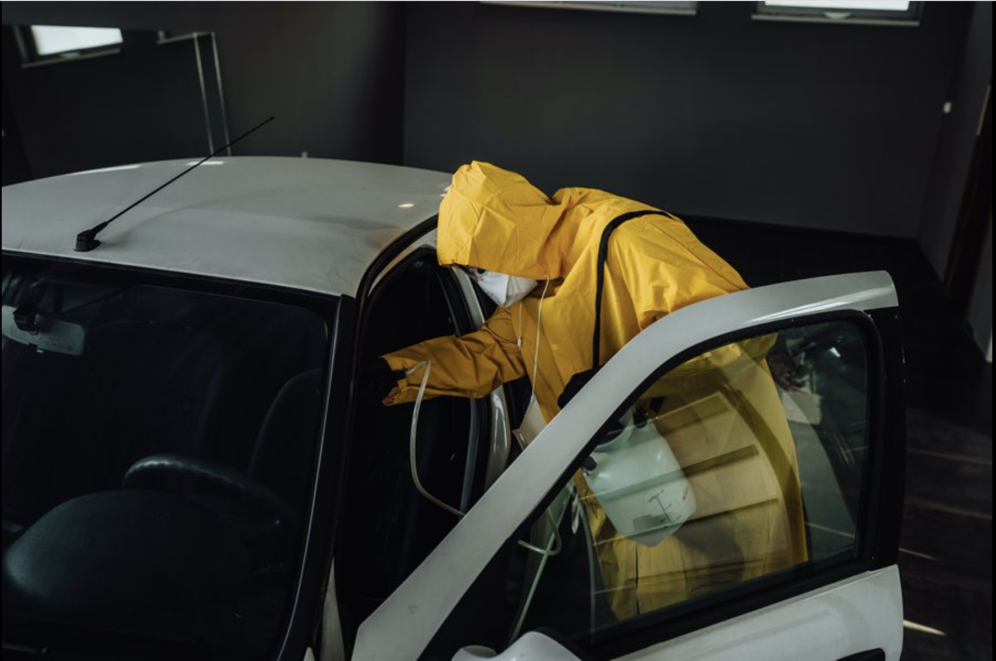 our Vancouver auto body shop do sanitize for car before and after doing auto body shop service